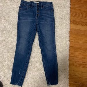 Madewell 10in high rise cropped jeans size 29